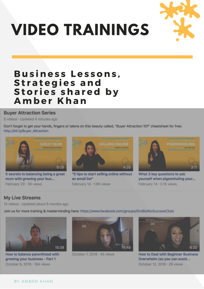 VIDEO TRAININGS BY AMBER KHAN